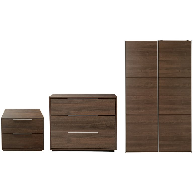 Buy Hygena Bergen 3 Piece Small Wardrobe Package - Walnut ...