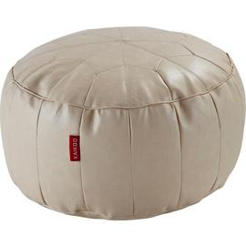 Argos Home Moroccan Faux Leather Footstool - Cream