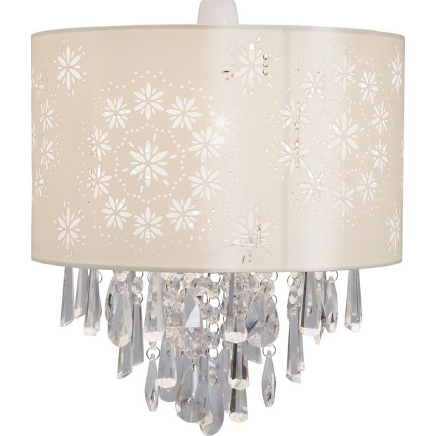 Lamp Shades At Argos: ... more details on Heart of House Jasmine Glass Beaded Shade - Cream.,Lighting