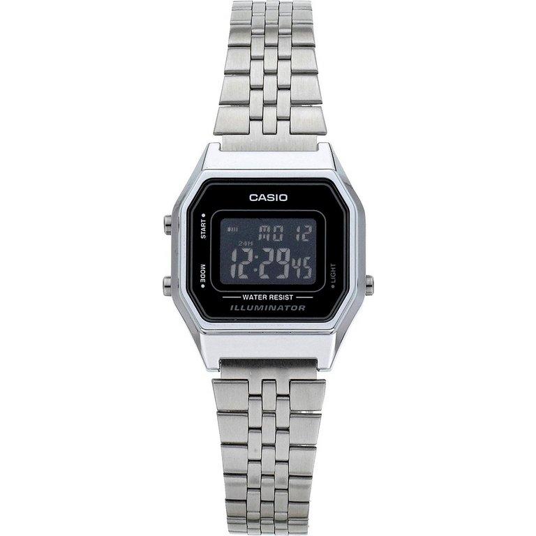 buy casio silver tone black digital at argos co