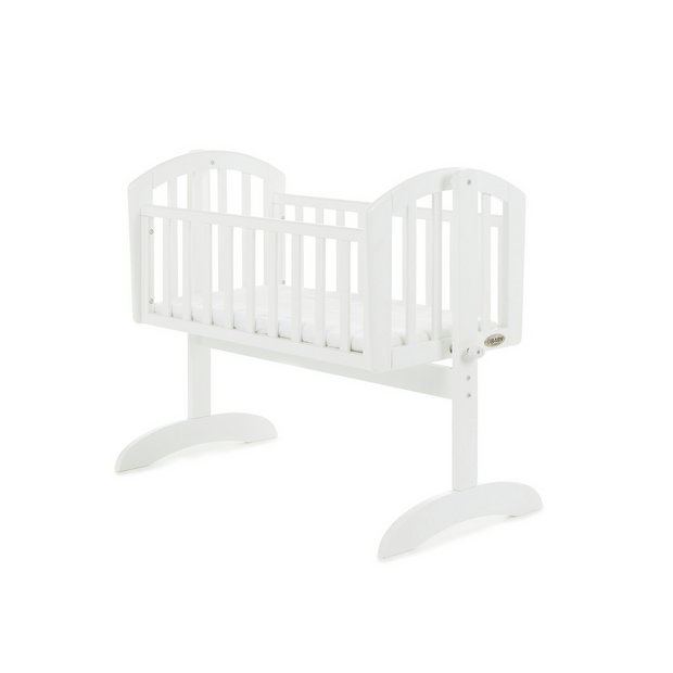 buy obaby sophie swinging crib and mattress white at. Black Bedroom Furniture Sets. Home Design Ideas