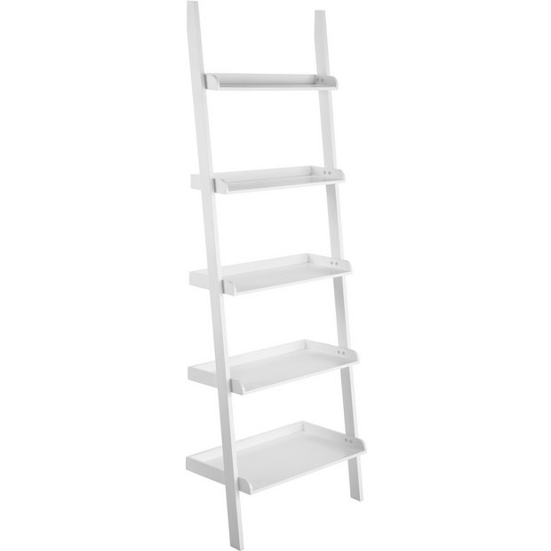 best sneakers b9a85 69f3c Buy Habitat Jessie Wide Leaning Shelving Unit - White | Bookcases and  shelving units | Argos