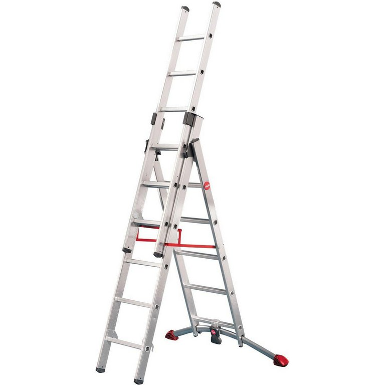 Buy Hailo Profilot 6 Rung Combination Ladder At Argos Co