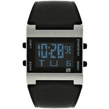 Spirit Men's Black Strap Digital Watch