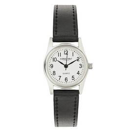 dd88188f5 Constant Ladies' White Dial Black Strap Watch