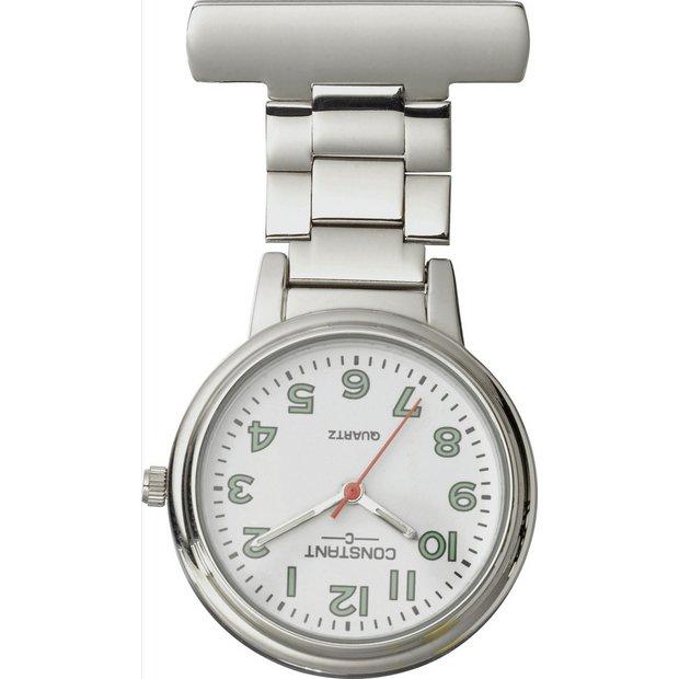 Buy Constant Nurses' Silver Fob Pin Fastening Watch | Womens watches | Argos