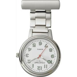 Constant Nurses' Silver Fob Pin Fastening Watch