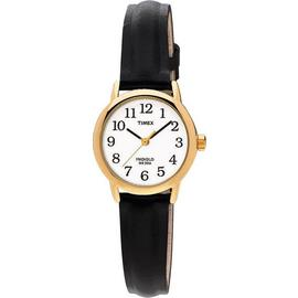 Timex Ladies' Gold Plated Black Strap Watch