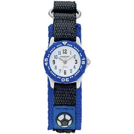 Constant Black and Blue Nylon Velcro Strap Football Watch