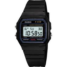 Casio Men's LCD Black Resin Strap Watch