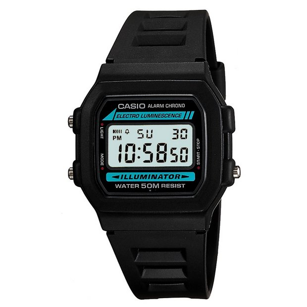buy men s watches at argos co uk your online shop for jewellery more details on casio men s chronograph and alarm digital lcd watch