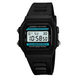 Casio Men's LCD Chronograph Black Resin Strap Watch