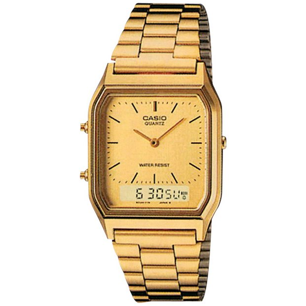 buy casio men s watches at argos co uk your online shop for more details on casio unisex gold tone combination watch