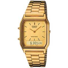 Casio Men's Gold Stainless Steel Bracelet Dual Time Watch