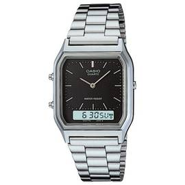 Casio Silver Stainless Steel Bracelet Dual Time Watch