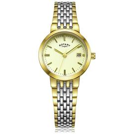Rotary Champagne Dial 2 Tone Bracelet Ladies Watch 254760 Best Price and Cheapest