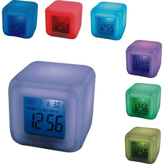 Buy Mayhem UK Aurora 30 Second Glow Colour Change Alarm Clock | Clocks | Argos
