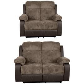 Argos Home Bradley Pair of 2 Seater Recliner Sofa - Natural