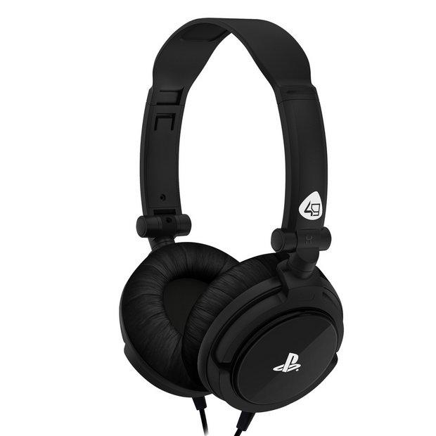 Buy 4Gamers PRO4 10 PS4, PS Vita Headset Black | Gaming headsets | Argos