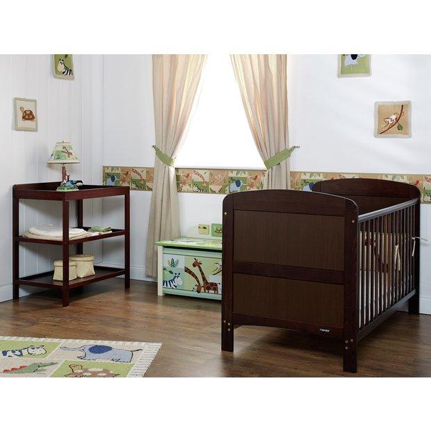 buy obaby grace 2 piece nursery furniture set walnut at. Black Bedroom Furniture Sets. Home Design Ideas