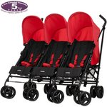 more details on Obaby Mercury Triple Stroller - Black and Red.