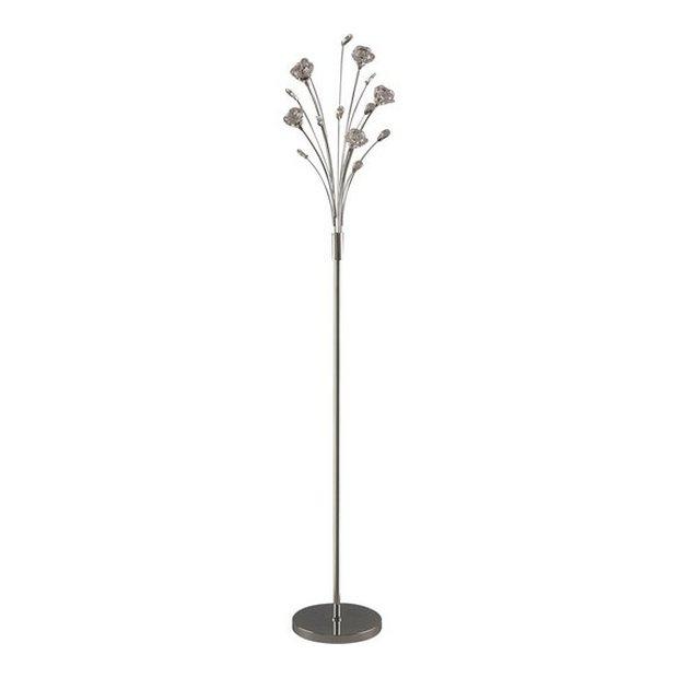 Buy Argos Home Rosa 5 Light Flower Floor Lamp - Chrome | Floor lamps ...