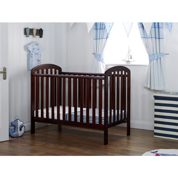 buy obaby lily cot walnut at your online. Black Bedroom Furniture Sets. Home Design Ideas