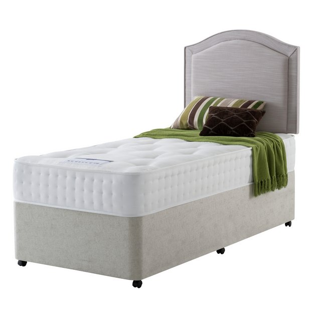 Buy rest assured irvine 1400 pocket ortho single divan bed at your online shop for Argos single divan beds
