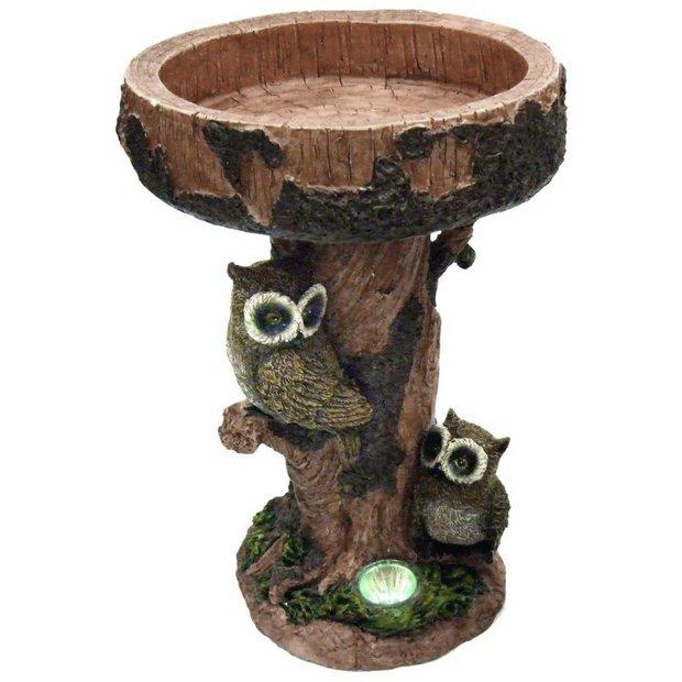 buy streetwize owl bird table solar light at. Black Bedroom Furniture Sets. Home Design Ideas