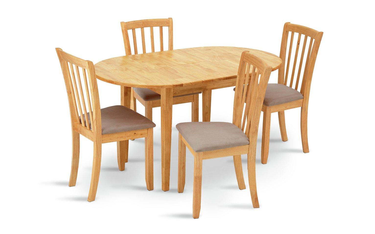 Argos Home Banbury Extendable Table 4 Chairs Cream