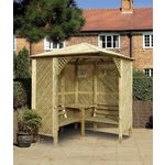 more details on Grange Fencing Valencia Corner Arbour with Table.