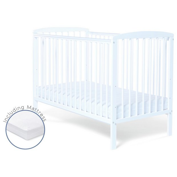 buy baby elegance starlight cot and mattress white at. Black Bedroom Furniture Sets. Home Design Ideas
