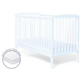 Baby Elegance Starlight Baby Cot with Mattress - White