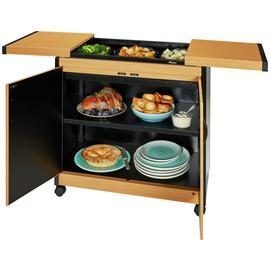 Hostess Steel Heated Trolley - Beech