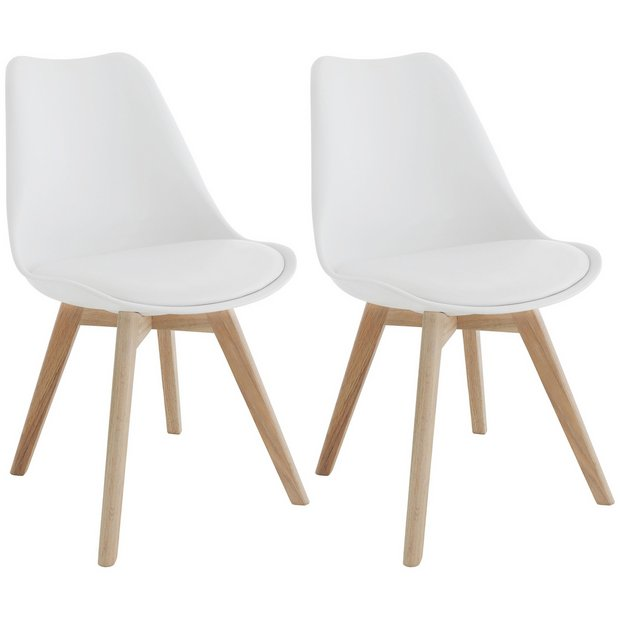 White Dining Chairs: Buy Habitat Jerry Pair Of White Dining Chairs At Argos.co