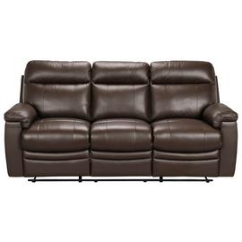 Argos Home Paolo 3 Seater Manual Recliner Sofa - Brown
