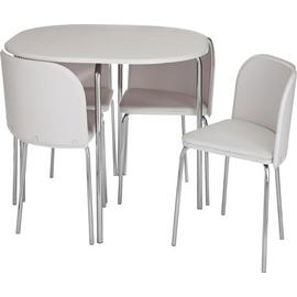Argos Home Amparo White Dining Table & 4 White Chairs