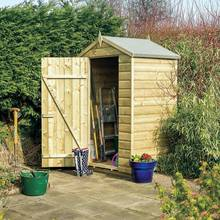Rowlinson Oxford Shiplap Wooden Shed - 4 x 3ft