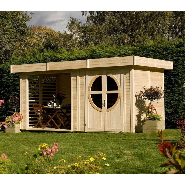 Buy Rowlinson Connor Unpainted Wooden Cabin At