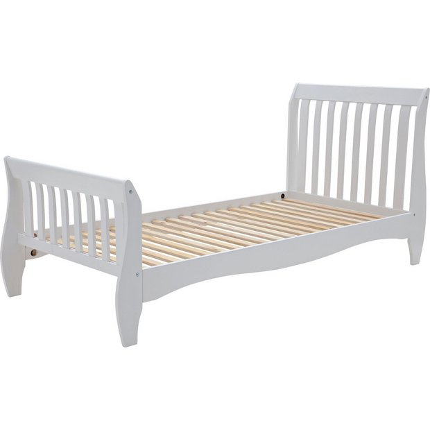 Buy Collection Daisy Single Sleigh Bed Frame White At