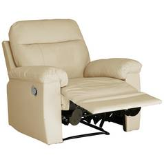 Argos Home Paolo Faux Leather Manual Recliner Chair - Ivory