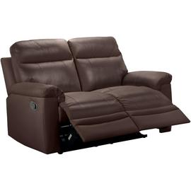 Argos Home Paolo 2 Seater Manual Recliner Sofa - Brown