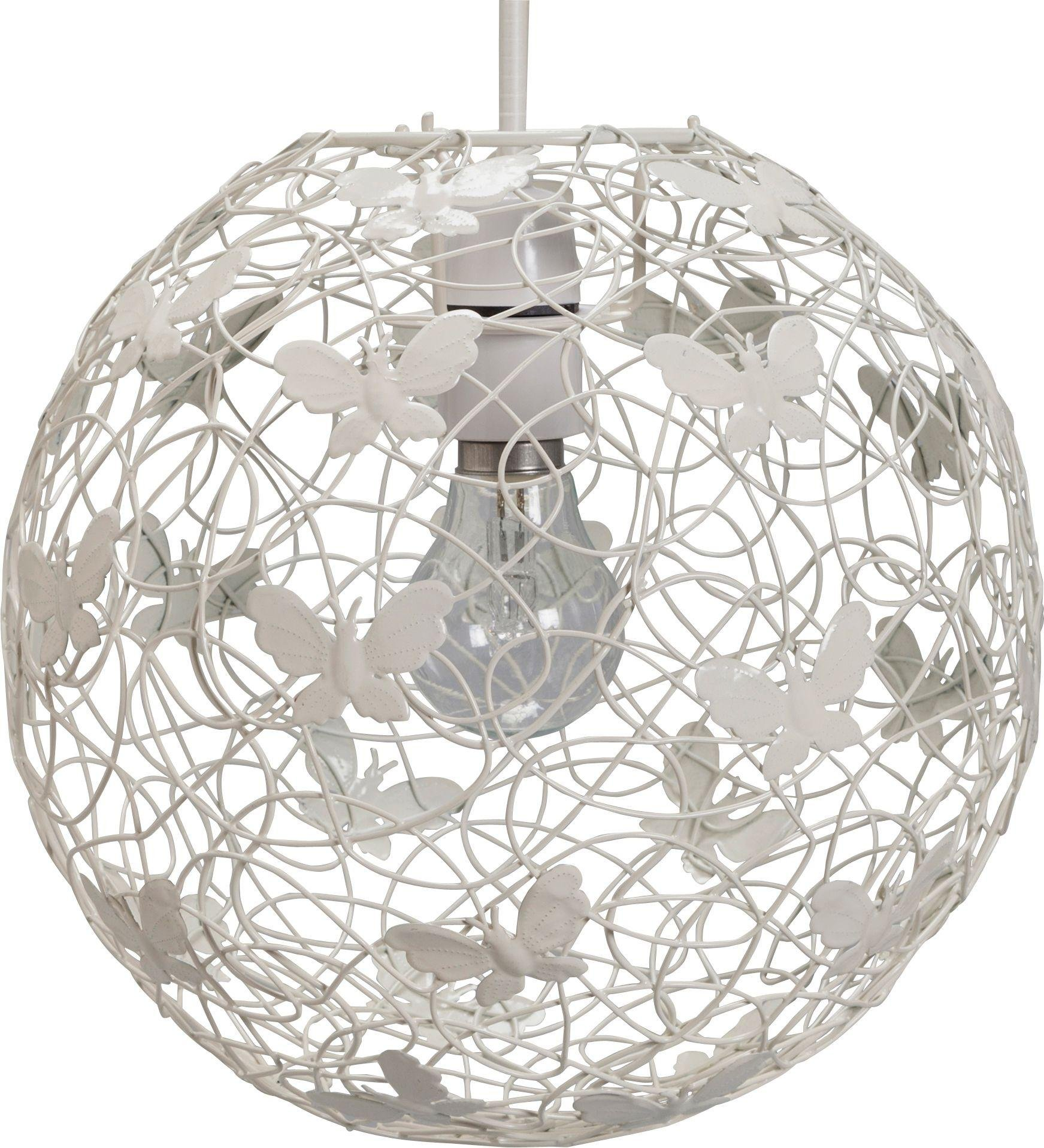 Heart Of House Butterfly Wire Easyfit Pendant Shade   Ivory