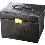 more details on Black Crocodile Small Four Drawer Jewellery Box.