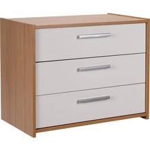 HOME New Sywell 3 Drawer Chest - Oak Effect & White Gloss