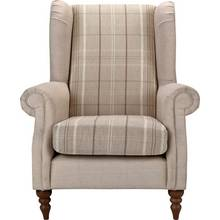 Heart of House Argyll Checked Fabric Chair - Beige