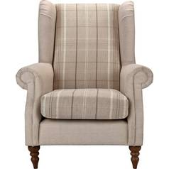 Argos Home Argyll Checked Fabric Chair - Beige