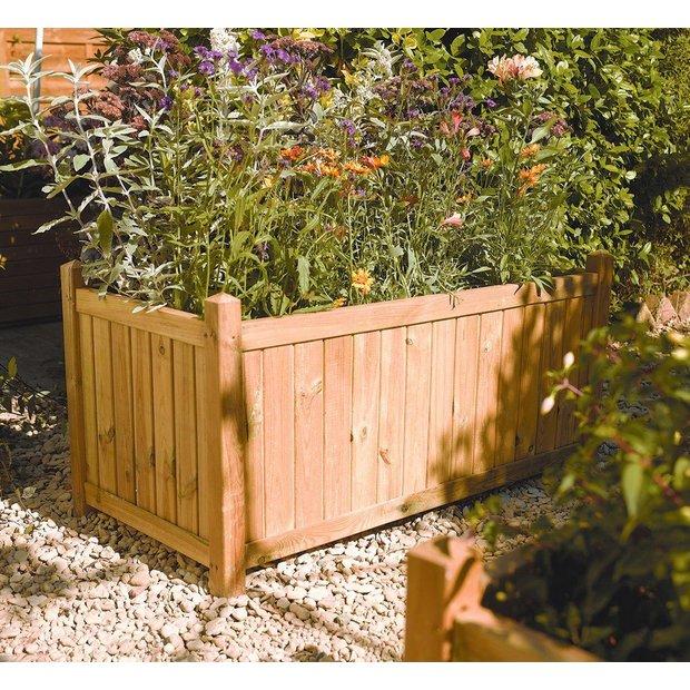 buy rowlinson rectangular planter at your. Black Bedroom Furniture Sets. Home Design Ideas