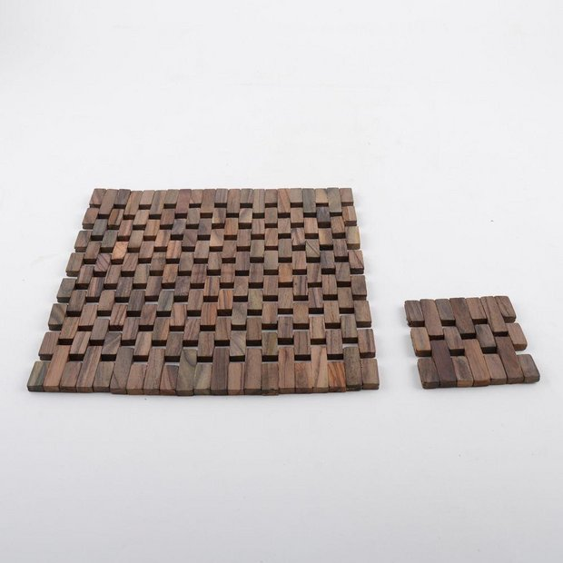 Buy Creative Tops 4 Slatted Wood Mats And Coasters Wood