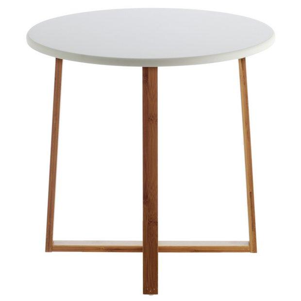 Buy Habitat Drew Low Side Table Bamboo At Argoscouk
